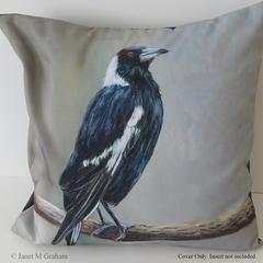 Cushion Cover, Magpie,  Bird, Wildlife, Throw Pillow,  Gift idea