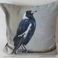 Cushion Cover, Magpie,  Bird, Wildlife, Throw Pillow,  Gift idea