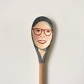 Wooden spoon portrait.