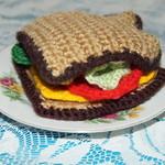 Crochet Rye Sandwich