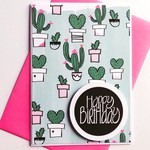 Happy Birthday succulents cactus cacti trend pretty her card