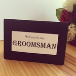 Will You Be My Groomsman ? Card Weddings Engagement Marriage LGBT Handmade