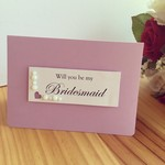 Will You Be My Bridesmaid ? Card Weddings Engagement Marriage LGBT Handmade