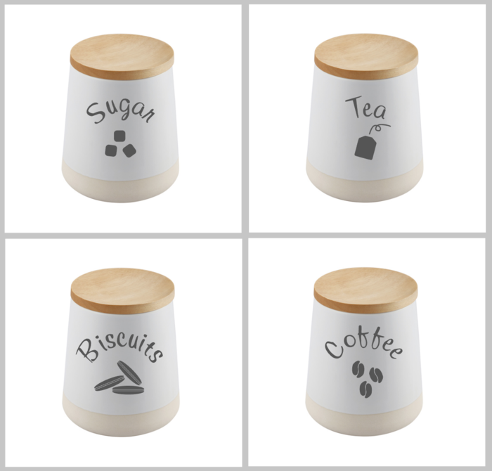 4 kitchen canister labels