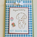 Dog Birthday Card - free postage