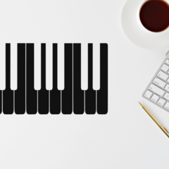 Piano - Small Sized Decal
