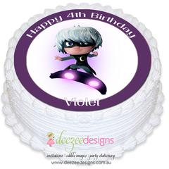 PJ Masks Luna Girl Round Edible Icing Cake Topper - PRE-CUT - EI183R
