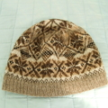 Unisex Beanie, Un-dyed Pure Wool, Browns/Greys, Handspun, Hand Knitted