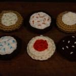 6 piece Crochet cookie set