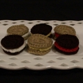 6 piece cream cookie set