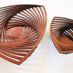 3 Point bowl in jarrah (Large size)