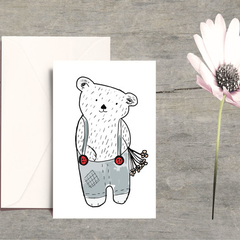Dooley bear card & magnet set