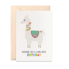 LLama Card, LLama Birthday Card, Cards for Girls, Birthday Girl Card, HBC249