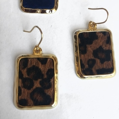 Faux leopard fur pendant dangles