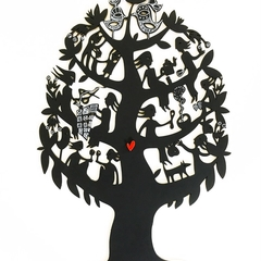 """Friendship Tree"" woodcut"