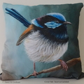 Cushion Cover, Superb Fairy Wren,  Bird, Wildlife, Throw Pillow,  Gift idea