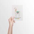 Birthday Card Girl - Llama - HBC249