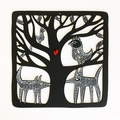 """Midnight Animals"" woodcut"