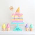 Hand painted Wooden Sweet Treat Set. (Cake + Milkshake)