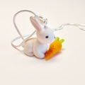 Rabbit Necklace - Bunny Necklace with carrot - Easter necklace - woodland