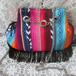 Women's Crossbody/Shoulder Bag - boho style with black fringe