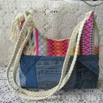 Women's Shoulder Bag - Boho Style with Rope Handles