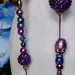 My Jewels - Magenta Crossing Beaded Necklace