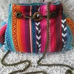 Women's Crossbody/Shoulder Bag  - Boho style with Pom Pom Trim