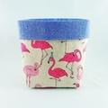 Fabric Basket - Flamingo