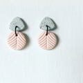 """Coconut Ice"" Double Drop Studs (i)"