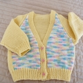 Size 1 yr : Girls cardigan in Multi colour