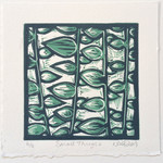 Original Linocut Small Things Branches