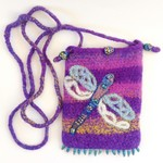 Embellished felt dragonfly hands free pouch.