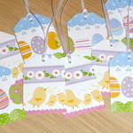 Set 10 Easter gift tags