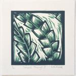 Original Linocut Small Things Leaves