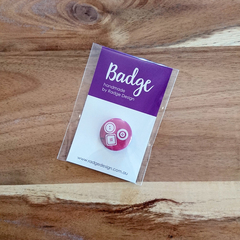 Sewing Inspired Button Badge - Buttons in Red