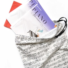 Music Book Bag or Library Bag. Musical Notes. Piano Book Bag.