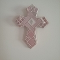 Mosaic Cross - Shades of Pink