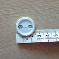 Sewing Inspired Button Badge - Blue Scissors in white