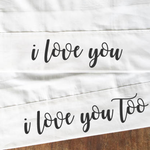 Personalised I LOVE YOU Couples Pillow Cases