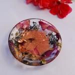 Resin Trinket Dish, Resin Bowl, Nature Ring Dish, Real Rose Petals BlackwoodLily