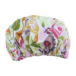 Spa Botanicals Luxury Shower Cap Adult Size Floral Bath Hat Laminated Cotton