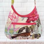 Belle Rose Handbag, Ladies Shoulder Bag, Floral Handbag
