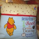 """Standing Honey Bear"" Reading Cushion (cover only)"