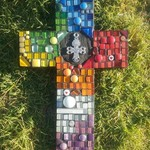 Mosaic Cross - Multi Colours