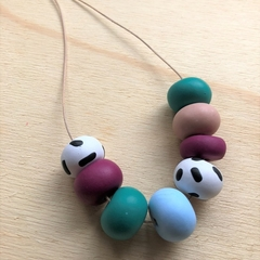 GEORGIA NECKLACE Chunky 8 bead necklace - cool palette