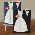 Wedding card, on your wedding day card, bride and groom card, wedding dress card