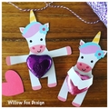 Unicorn candy hugger - 5 pieces - candy holder - party - free Australia Post