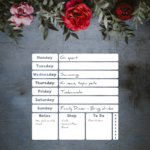 Weekly Planner Dry Erase Vinyl Decal