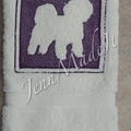 Dog Breed Embossed Hand Towel